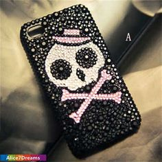 Halloween Skull iPhone 5S CaseiPhone 5S  Skull by Alice7Dreams