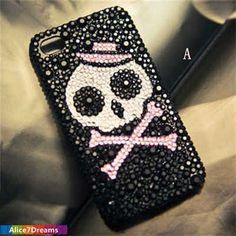 Halloween Skull iPhone 5S CaseiPhone 5S  Skull by Alice7Dreams