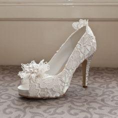 'Flo' Ivory Luxury Vintage Lace Wedding Shoes