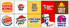 I personally prefer the old logos (top) over the new ones, with the exception of KFC & Taco Bell with they boo boo brown lol