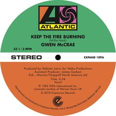 "Gwen McCrae - Keep The Fire Burning / Funky Sensation (12"")"