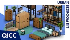Sims Four, Sims 4 Mm, Sims 4 Mods Clothes, Sims 4 Clothing, Urban Bedroom, Modern Bedroom, Urban Interior Design, Sims 4 Traits, Sims 4 House Building