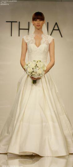 THEIA White for Fall 2014 - Wedding Dresses - Bernadette / http://styleunveiled.com/wedding-blog/tag/theia-couture