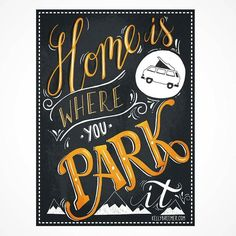 Home Is Where You Park It -From@kelly.illustration . . . #pixelsurplus #typography #homeiswhereyouparkit #type #dailytype  #typelove #typedesign #typematters #typeeverything #artoftype #inspiration #prints #typespire #print #explore #goodtype #design #graphicdesign #designlife #designer #designers #artist #handdrawn #landscape #handlettering #drawing #art #lettering #vanlife