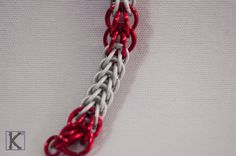 Bracelet Frost & Red Full Persian Style by CreationsByKsquared on Etsy