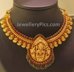 Gold Nakshi finish Mango mala - Latest Jewellery Designs