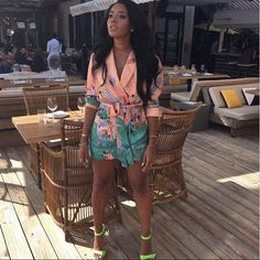 Angela Simmons in her custom-made Gabrielle Shoes #mosaiqueshoes