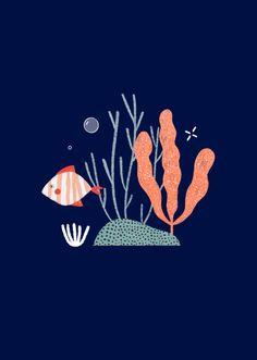 Dans ma culotte - Arual Ocean Illustration, Digital Illustration, Ocean Backgrounds, Background Drawing, Baby Drawing, Sea Theme, Pattern Drawing, Art Inspo, Vector Art