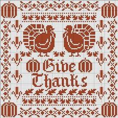 Autumn Crafts - Free thanksgiving cross stitch chart by Lois Winston for DMC. Free Cross Stitch Charts, Cross Stitch Freebies, Counted Cross Stitch Patterns, Cross Stitch Designs, Cross Stitch Embroidery, Folk Embroidery, Fall Cross Stitch, Cross Stitch Samplers, Cross Stitching