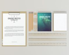 Free A4 Clipboard With Notepads (61 MB) | graphictwister.com | #free #photoshop #mockup