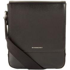 Burberry Greenford Mini Messenger Bag ($1,060) ❤ liked on Polyvore featuring men's fashion, men's bags, men's messenger bags and burberry mens messenger bag