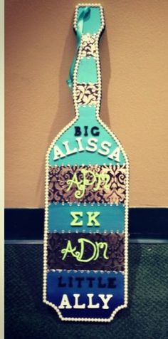 ombré paddle for my big! #sigmakappa #paddle #sorority #ombre