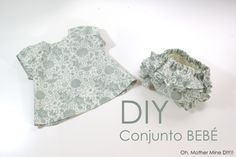 DIY How to dress and diaper covers for baby (free patterns or molds) Childrens Sewing Patterns, Baby Clothes Patterns, Sewing Patterns Free, Free Sewing, Sewing Kids Clothes, Sewing For Kids, Baby Sewing, Baby Girl Fashion, Kids Fashion