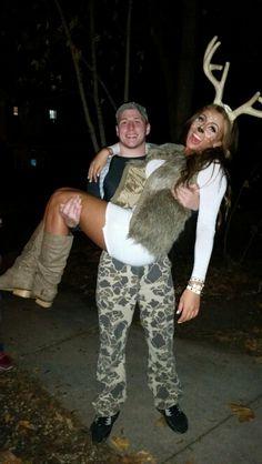 Halloween deer and hunter costume!