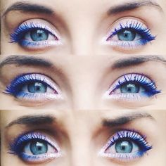 Thinking of investing in some Blue Mascara! :) White liner + blue mascara = beautiful eyessss
