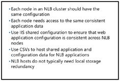 Designing applications and storage support for NLB