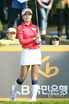 This week is the fourth and final Major of the year on the KLPGA, the KB Financial (or KB Star Tour) Championship. Kyu Jung Baek and Hyo Joo Kim, winners of the first three Majors, will once again Girl Golf Outfit, Cute Golf Outfit, Girl Outfits, Girls Golf, Ladies Golf, Golf Putting Tips, Golf Player, Lpga, Folk Fashion