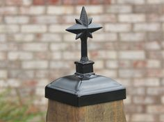 Nativity Star Fence Post Cap, Wrought Iron 4x4 Post cap for wood post