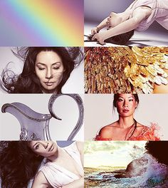 Greek Mythology Dreamcast - Lucy Liu as Iris Soaring to heaven on balanced wings, blazed a rainbow trail beneath the clouds as she flew... Iris, glory of the sky, cloud-borne. (x)