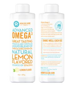 Omega3 contains 900mg of molecularly distilled, Omega-3 fish oil, sourced from suppliers that are GOED (Global Organization for EPA and DHA Omega-3s) members, following their strict quality standards. The Omega3 liquid formula also contains Omega-6 and Omega-9 for added benefits, with a delicious lemon-cream flavor, without the fishy aftertaste. As with any dietary or herbal supplement, you should notify your healthcare practitioner before using this product. Find it at…