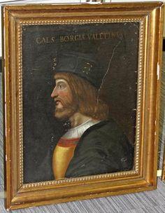 Oil on canvas carrying a top left inscription valentino - Borgia conti ...