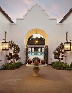 Spanish Courtyard.