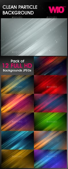 12 Clean Particle Backgrounds