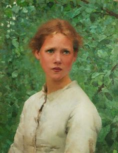 Portrait of a Girl's Head by George Clausen, 1886 Manchester City Galleries
