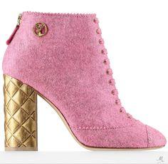 Chanel Chine Felt Short Boot   2014-2015