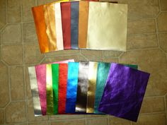 """Metallic Leather 12""""x12"""" Bright Metallic Foil Cowhide YOUR CHOICE of color 2.5-3 oz / 1-1.2 mm PeggySueAlso?"""