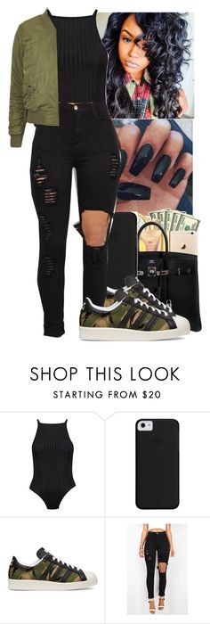 """""""💚 Tinashe~ Cold Sweat 💚"""" by jasmine1164 ❤ liked on Polyvore featuring Boohoo, adidas Originals and Topshop"""