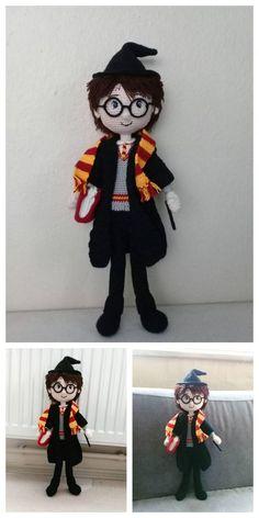 Educational and interesting ideas about amigurumi, crochet tutorials are here. Harry Potter Free, Harry Potter Dolls, Harry Potter Crochet, Crochet Amigurumi Free Patterns, Christmas Crochet Patterns, Crochet Doll Pattern, Crochet Hedgehog, Half Double Crochet Decrease, Single Crochet Stitch
