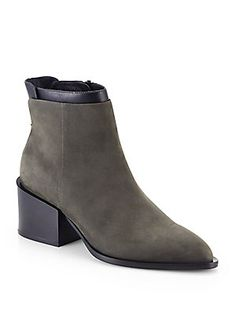 Vince Laura Suede & Leather Ankle Boots