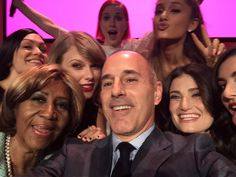 women in music selfie - taylor swift, idina menzel, arethra franklin and more