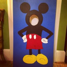 Mickey Mouse 'Face-in-the-Hole' for a two year-old's birthday party!