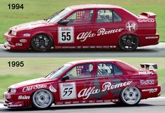 Alfa Romeo 155 Silverstone in BTCC.