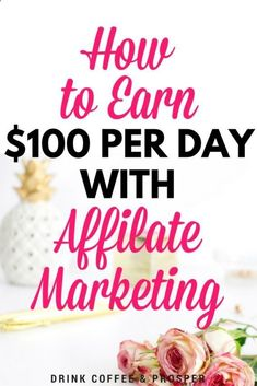 Earn Money Online Fast How to Earn $100 Per Day with Affiliate Marketing If you want to enjoy the Good Life: Making money in the comfort of your own home writing online, then this is for YOU!