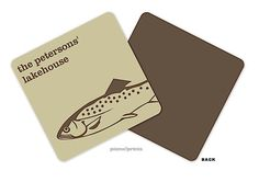 Go Fish Personalized Coaster designed by Picme! Personalized Coasters, Going Fishing, Craft Gifts, Pineapple, 18th, Merry, Invitations, Gift Ideas, My Love