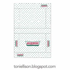 Free printable from Toni Ellison: Krispy Kreme Doughnut boxes & Coffee cups for Miniature Polymer Clay Food Tutorial Barbie Miniatures, Dollhouse Miniatures, Diy Dollhouse, Crea Fimo, Krispy Kreme Doughnut, Doll House Crafts, Doll Food, Barbie Food, Clay Food