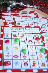 Free Printable Christmas Bingo Game and other activities