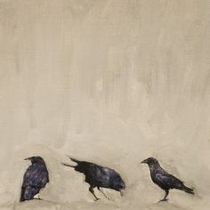 untitled crows ~ mixed media ~ by brian barrer Crow Art, Raven Art, Bird Art, Crows Ravens, Fauna, Painting & Drawing, Saatchi Art, Art Projects, Art Photography