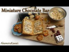 Miniature Chocolate bar tutorial - Miniature baking scene - YouTube
