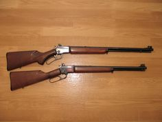 Winchester 9422 and Marlin 39A. The best.