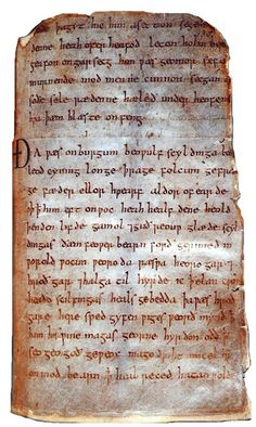 For the love of Books...the only one medieval manuscript of the Old English Epic Beowulf known to exist, British Library Board.
