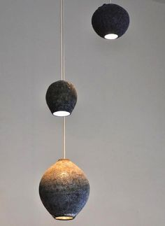 ceramic lights by Adam Silverman