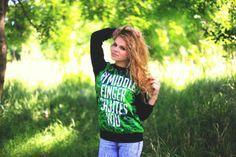 BLUZA '' MY MIDDLE FINGER SALUTES YOU '' MARIHUANA WEED GANDZIA