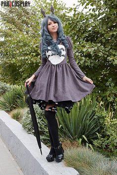 Totoro cosplay | cute totoro lolita style dress | grey, custome, geek, anime | my neighbor totoro | outfit, studio ghibli, miyazaki movie