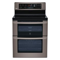 LG Appliances Black Stainless Steel Electric Convection Double Oven Range