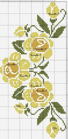 Large collection of free Cross Stitch charts and graphs: Creative and easy . Free Cross Stitch Charts, Cross Stitch Borders, Cross Stitch Designs, Cross Stitching, Cross Stitch Embroidery, Hand Embroidery, Cross Stitch Patterns, Cross Stitch Rose, Cross Stitch Flowers