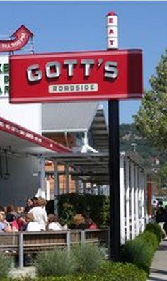 Gott's Roadside in Napa, California - the original one is in St. Napa Sonoma, Sonoma Valley, Napa Valley, California Restaurants, California Dreamin', Wine Vine, St Helena, Wineries, Wine Country
